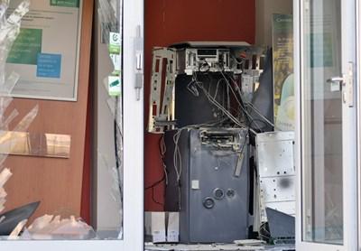 Снимка е илюстративна от друг взривен банкомат в София.