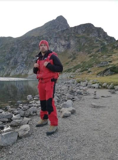 Планинският спасител Станислав Попов, който участва в акциите в Рила.