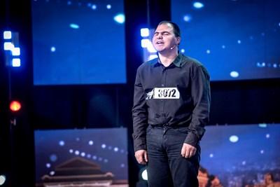 """Андриян на сцената на """"България търси талант"""" Снимка: Би Ти Ви/""""България търси талант"""""""