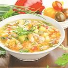 Лятна супа с прясно мляко и варено яйце