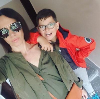 Мария Силвестър с детето