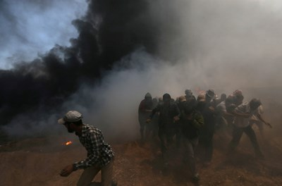 Вчерашният ден бе най-смъртоносният в ивицата Газа след войната между Израел и Хамас през 2014 г. СНИМКА: Ройтерс