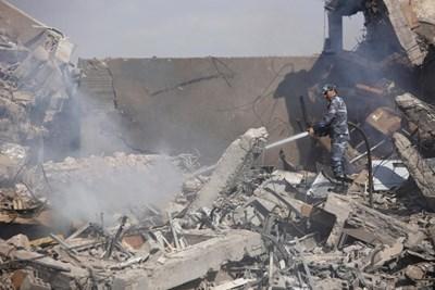 Ударите са нанесли сериозни поражения в Сирия. СНИМКА: РОЙТЕРС