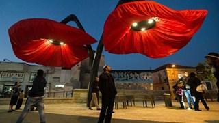 """Уникални лампи-цветя """"разцъфват"""" като се приближиш (Снимки+Видео)"""