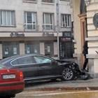Кола опита да влезе в БАН! /СНИМКИ/