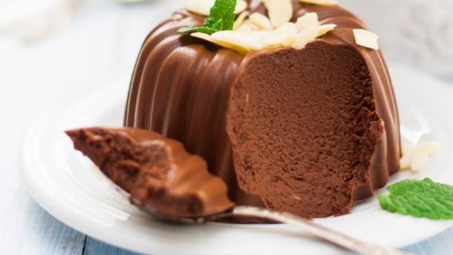 Десертно желе с какао и пудра захар