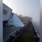 Десетки тирове във верижна катастрофа край Харманли (Видео)