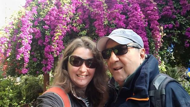 Бащата на Чочо и жена му в Мароко