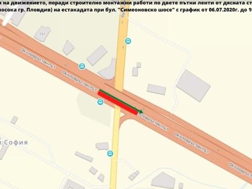 """Вижте ограниченията по бул. """"Симеоновско шосе"""" за ремонт на дилатационни фуги"""