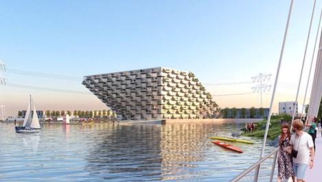 Строят жилищен комплекс върху вода