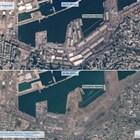 Снимка на Бейрут от Космоса след експлозията