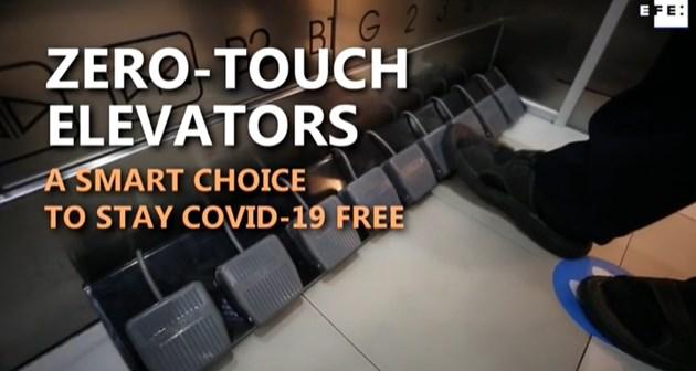 Тайландски мол замени бутоните на асансьорите с педали (Видео)