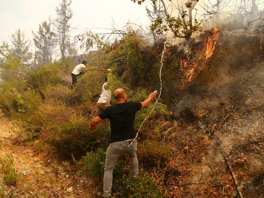 Шести ден Турция се бори с пожарите