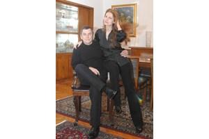 Със съпругата си - художничката Милена