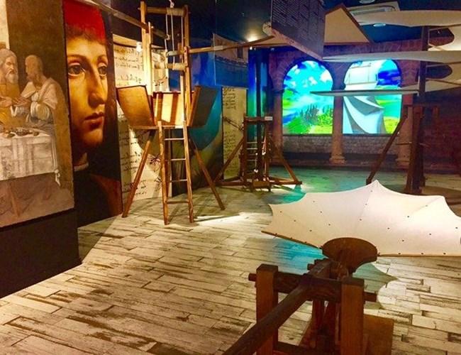 В римския музей, посветен на Леонардо да Винчи, са изложени репродукции на негови проекти и творби.  СНИМКА: АВТОРЪТ