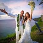 Скалата се ожени на Хаваите (Снимки)