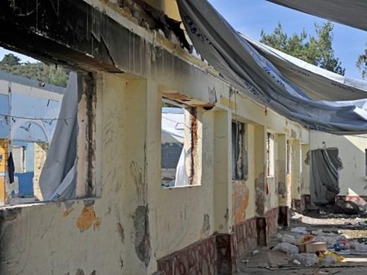 Голям пожар в лагер за мигранти в Гърция