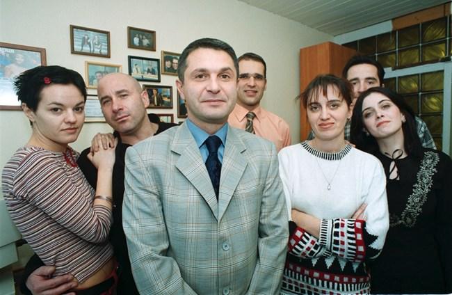 """Милен заедно с екипа на """"Часът на Милен Цветков""""."""