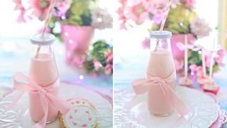 Рецепта за розово растително мляко