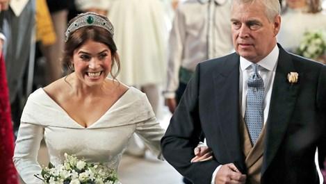 Принцеса Юджини показа огромен белег със сватбената рокля (галерия)