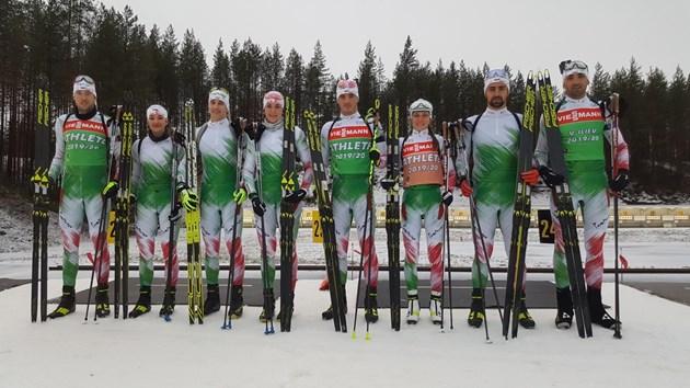 Биатлонистите тестват ските