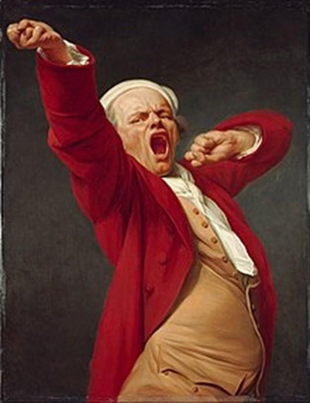 """""""Прозявката"""" - автопортрет на Жозеф Дюкро, 1783 г."""