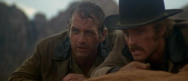 """Пол Нюман и Робърт Редфорд (вдясно) във филма """"Буч Касиди и Сънданс Кид"""", който се превръща в причината Редфорд да основе киноинститута """"Сънданс""""."""