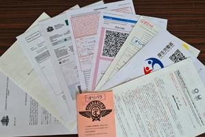 Част от необходимите документи за разрешение за влизане в Токио за олимпийските игри.