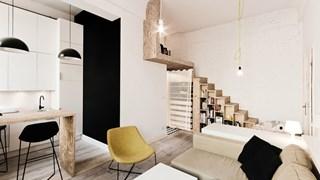 80 кв. м апартамент се превърна в 4 малки жилища (галерия)