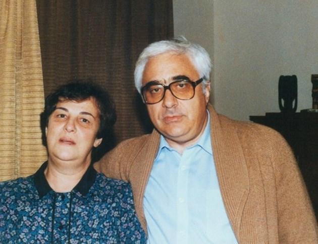 Лили със съпруга си Андрей Луканов