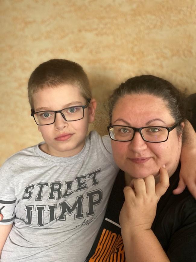 Надя със сина си Борис