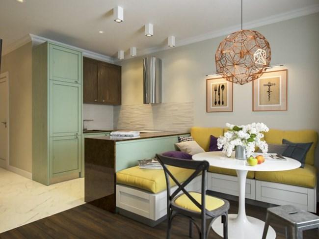 В кухненския бокс разположението на уредите е в П-образна форма Снимки design-homes.ru