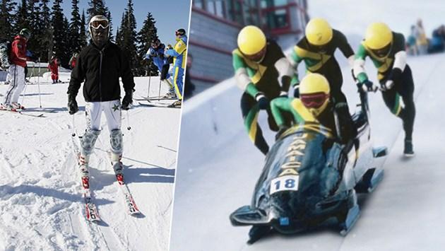 Чернокож скиор vs бобслей от Ямайка
