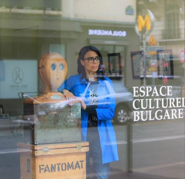 Десислава Бинева в Българския културен институт в Париж СНИМКА: БЕАТРИС ПАПАЗЯН