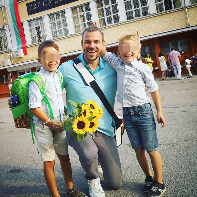 Ивайло Захариев с двама синове