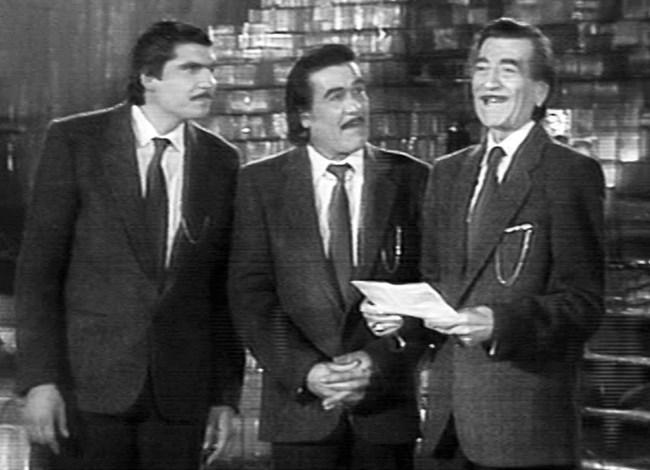 Георги Парцалев на една сцена с двамата си най-добри имитатори - Весо Парцала и Звезделин Минков