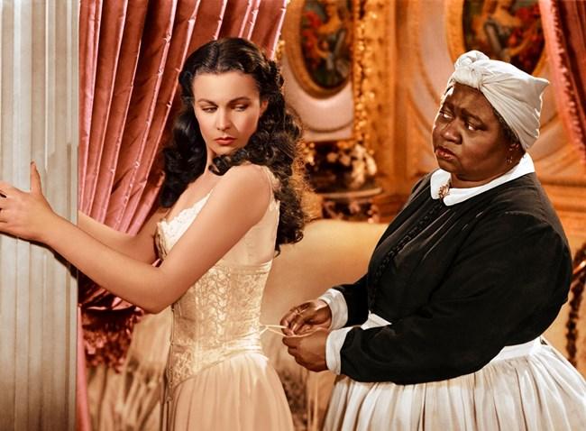 Макданиел и Вивиан Лий, която играе Скарлет О'Хара в класиката на Виктор Флеминг.