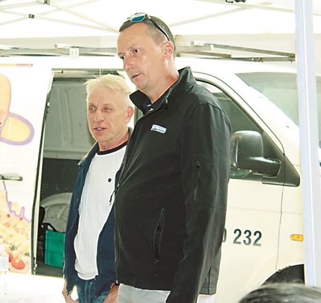 Михаил Драганчук (вляво) и Александър Китов