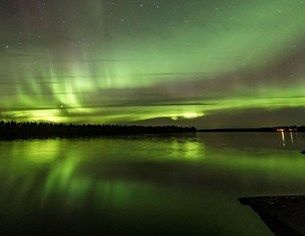 Цветна феерия над Финландия (Снимки)