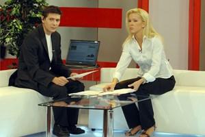 Виктор Николаев с Валентина Войкова в сутрешния блок на БНТ