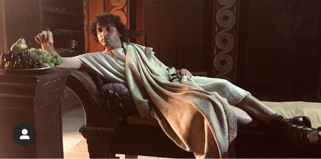 Иван Юруков на снимките на филма за заговора срещу Цезар.