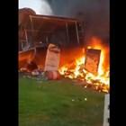 Мъж се скара с жена си и влетя със самолет в авиоклуб, загина (Видео)