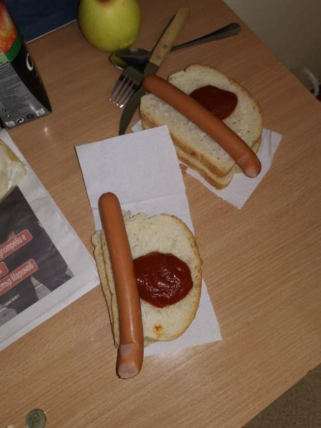 Хранят болни с хляб върху тоалетна хартия