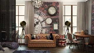 Малкото жилище с британски нотки в интериора (галерия)