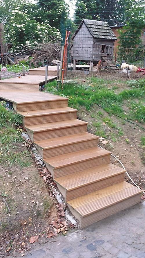 НАПРАВИ СИ САМ: Градинско стълбище