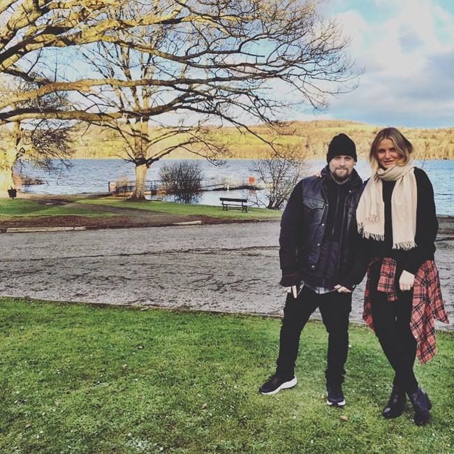 Актрисата Камерън Диас заедно със съпруга си Бенджи Маден, с когото има брак от пет години.