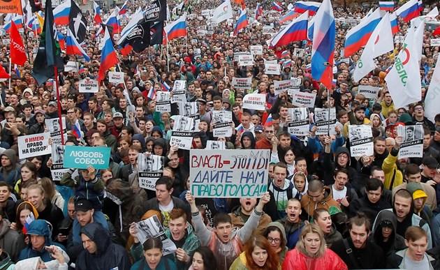 Пореден опозиционен митинг в Москва (Снимки)