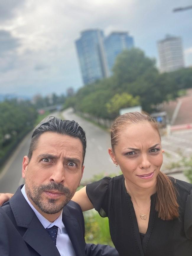 С колегата си Владимир Михайлов