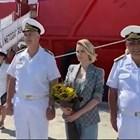 Мария Бакалова кръсти кораб на военните