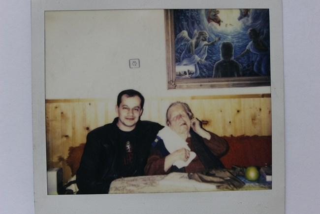 Ванга и Стоян Петров, режисьор и сценарист на филма, 1992 г.